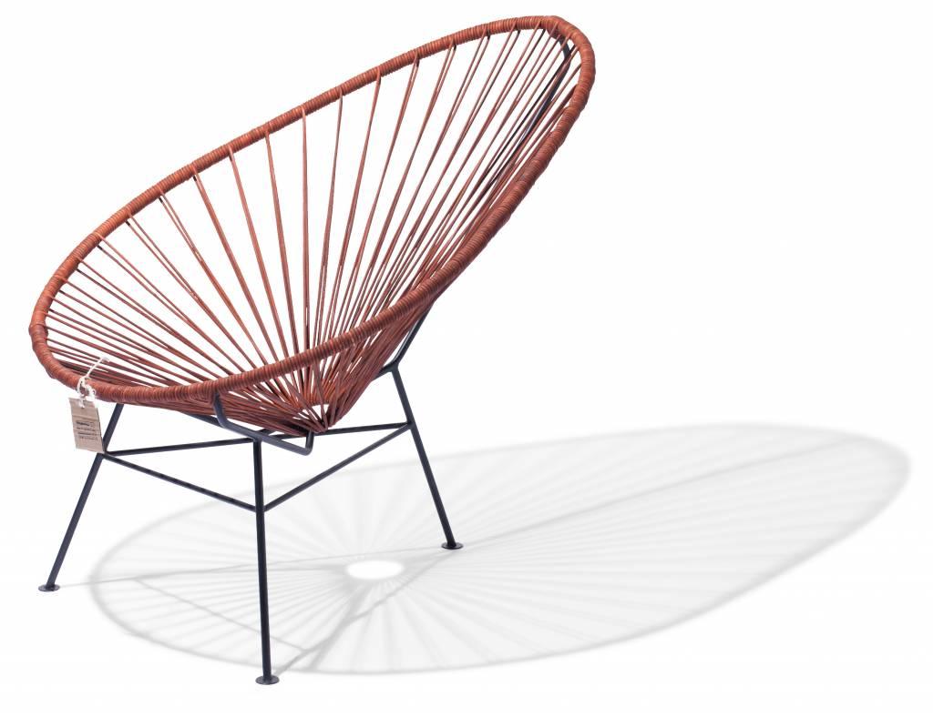 acapulco leder stuhl mit schwarzem rahmen acapulco st hle. Black Bedroom Furniture Sets. Home Design Ideas