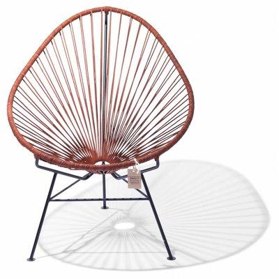 Acapulco Leder Stuhl, mit schwarzem Rahmen
