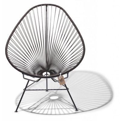 Acapulco chair chocolate brown with black frame