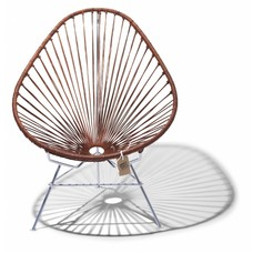 Acapulco chair leather edition with chrome
