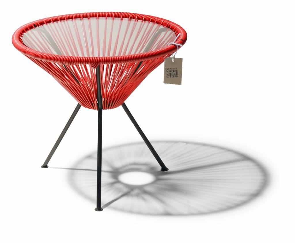 Table de chevet par fair furniture le fauteuil acapulco for Table avec plateau en verre