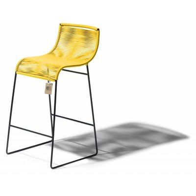 Tabouret de bar Zicatela jaune