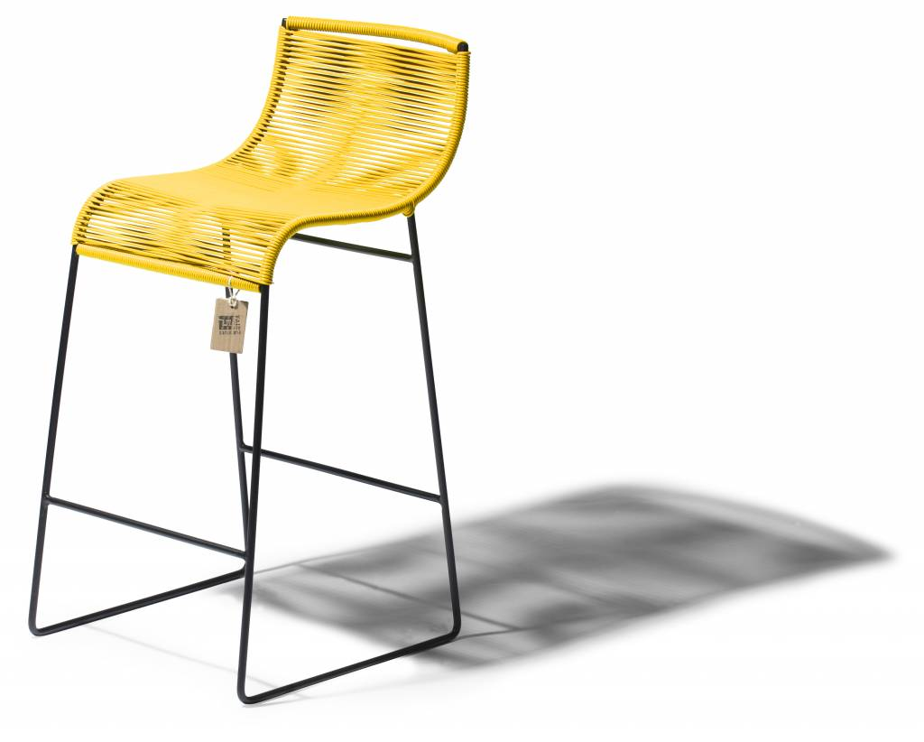 tabouret de bar lilix jaune le fauteuil acapulco authentique. Black Bedroom Furniture Sets. Home Design Ideas