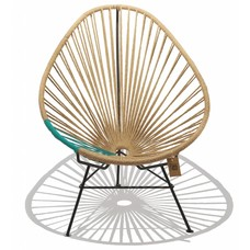 Acapulco Hemp chair with turquoise PVC detail