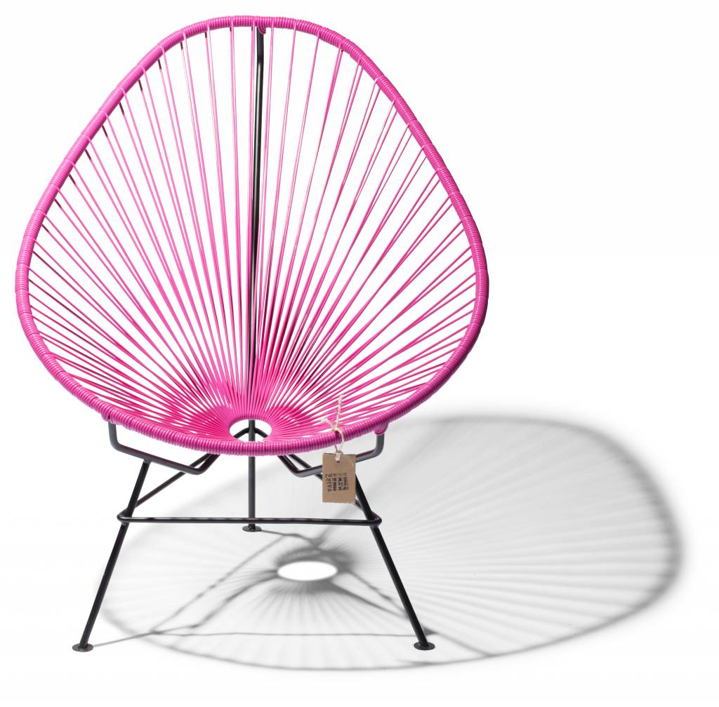 acapulco chair fuchsia black frame the original. Black Bedroom Furniture Sets. Home Design Ideas