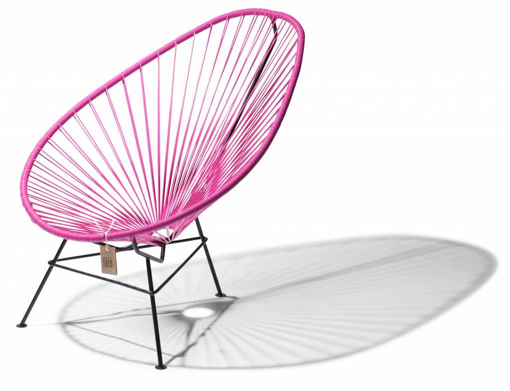 fauteuil acapulco fuchsia avec cadre noir le fauteuil acapulco authentique. Black Bedroom Furniture Sets. Home Design Ideas