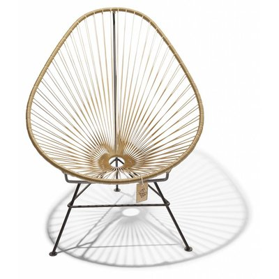 Acapulco chair gold, black frame