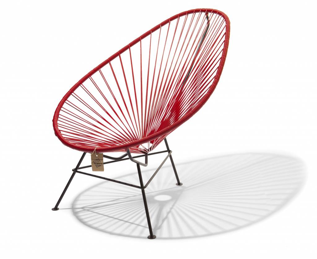 hot red acapulco chair for sale the original acapulco chair. Black Bedroom Furniture Sets. Home Design Ideas