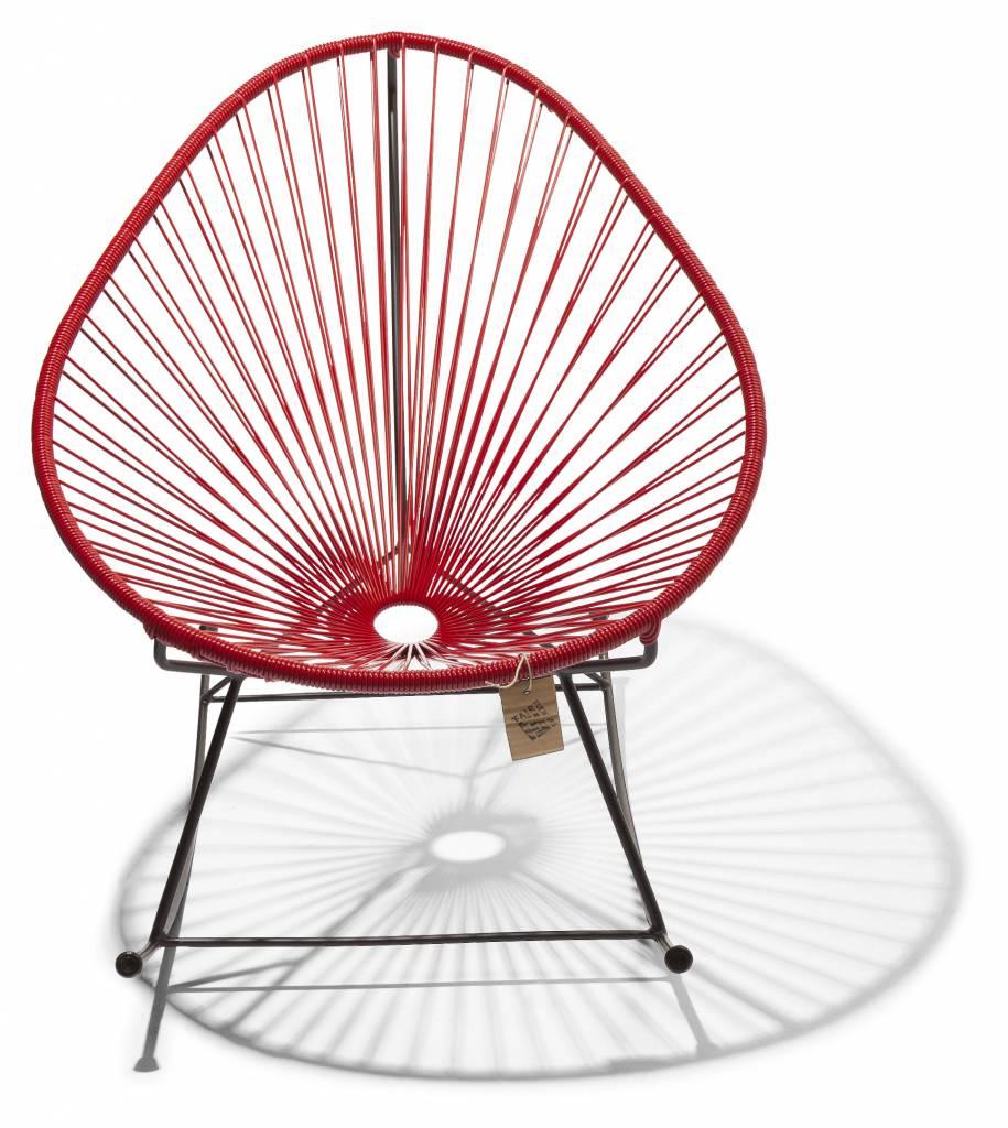 fauteuil bascule acapulco rouge le fauteuil acapulco authentique. Black Bedroom Furniture Sets. Home Design Ideas