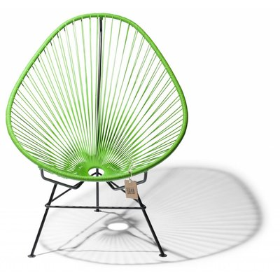 Handmade Acapulco chair apple green with black frame