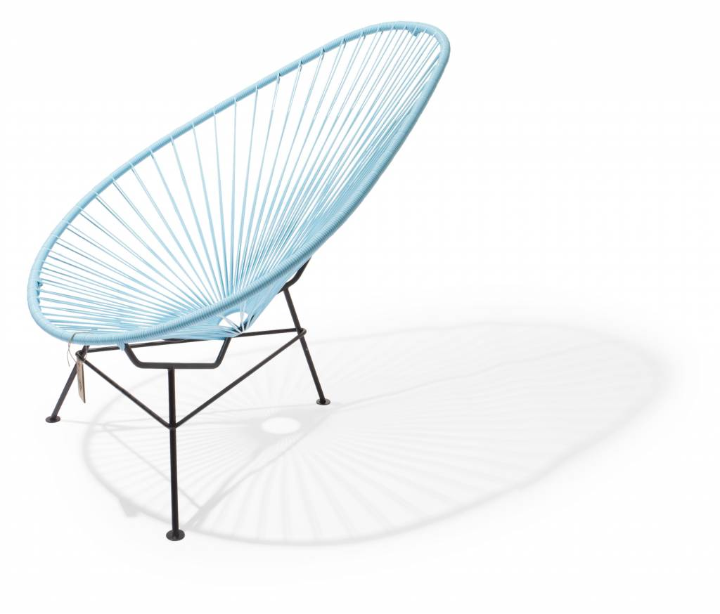 Acapulco chair dimensions - Handmade Acapulco Chair Pastel Blue With Black Frame