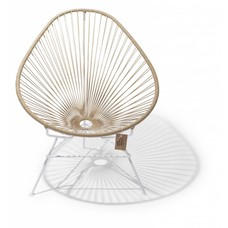 Acapulco chair beige, white frame