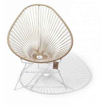Acapulco Stuhl beige, weißen Rahmen