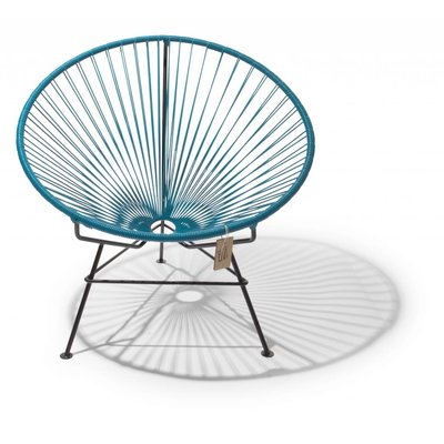 Condesa chair petroleum blue with black frame