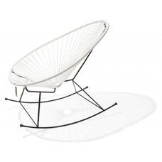 Le fauteuil à bascule Acapulco blanc