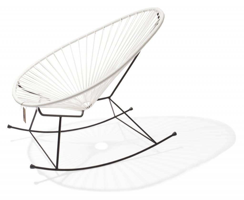 Le fauteuil bascule acapulco blanc le fauteuil acapulco authentique - Fauteuil a bascule blanc ...