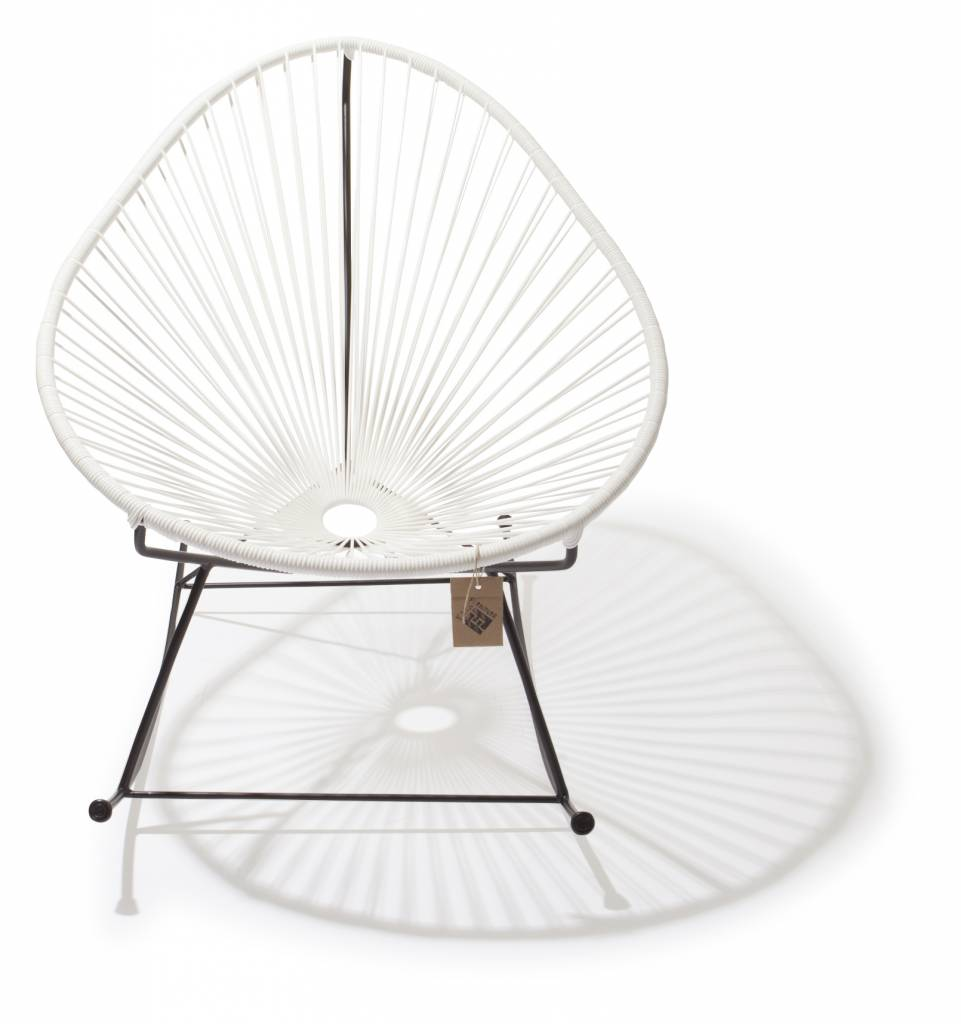 le fauteuil bascule acapulco blanc le fauteuil acapulco authentique. Black Bedroom Furniture Sets. Home Design Ideas