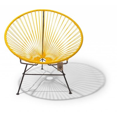 Condesa chair yellow with black frame