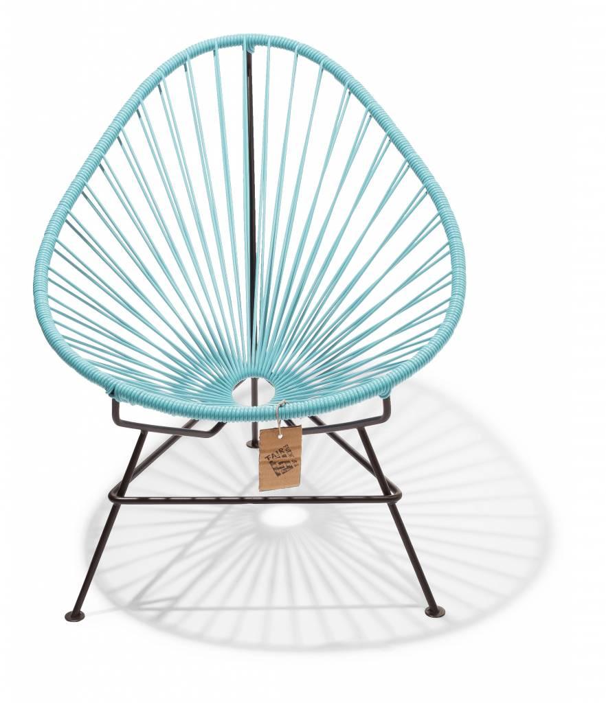 Sedia acapulco per bambini blu pastello sedie originali for Sedia acapulco