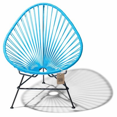 Acapulco chair blue with black frame