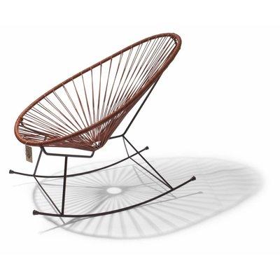 Chaise à bascule Acapulco édition en cuir