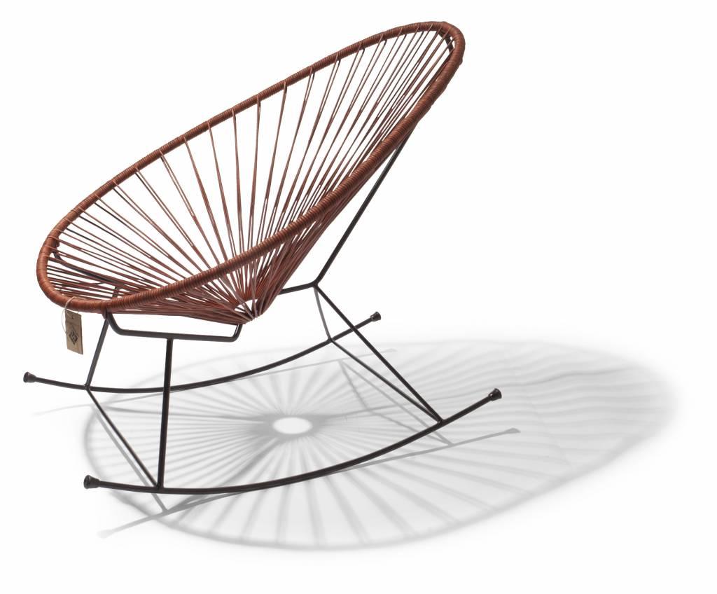Sedia a dondolo acapulco in pelle sedie originali acapulco for Sedia acapulco