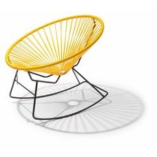 Sedia a dondolo Condesa giallo