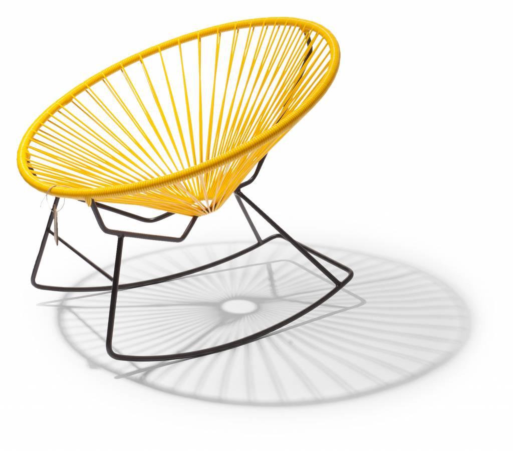fauteuil bascule condesa jaune le fauteuil acapulco authentique. Black Bedroom Furniture Sets. Home Design Ideas