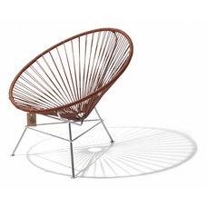 Condesa chair leather edition with chrome