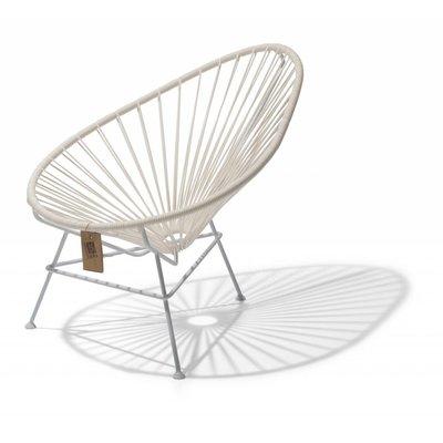 Acapulco kinder/baby stoel wit met wit frame
