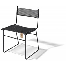 Sedia a slitta Polanco nera