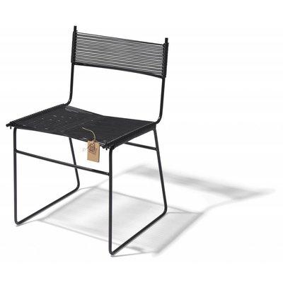 Polanco Esszimmerstuhl auf Kufen schwarz