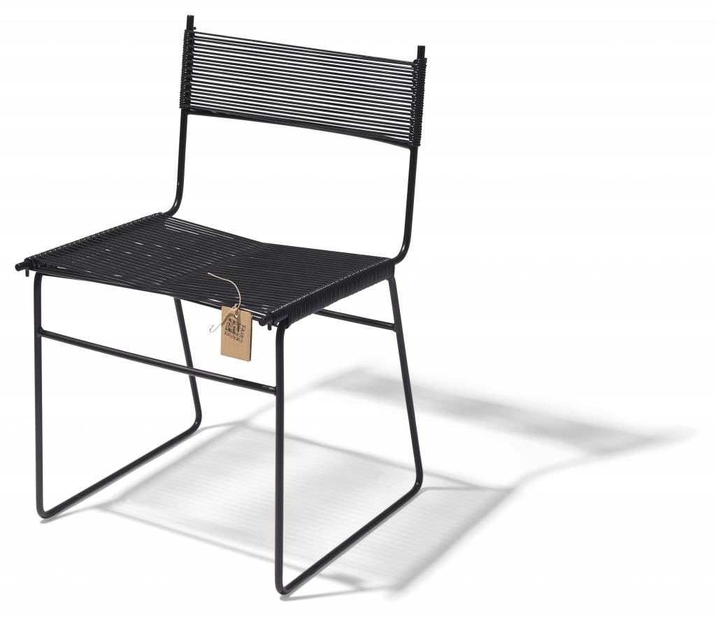 Chaise de cordon fait la main le fauteuil acapulco for Chaise de salle a manger noir