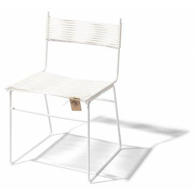 Chaise luge de salle à manger Polanco blanc