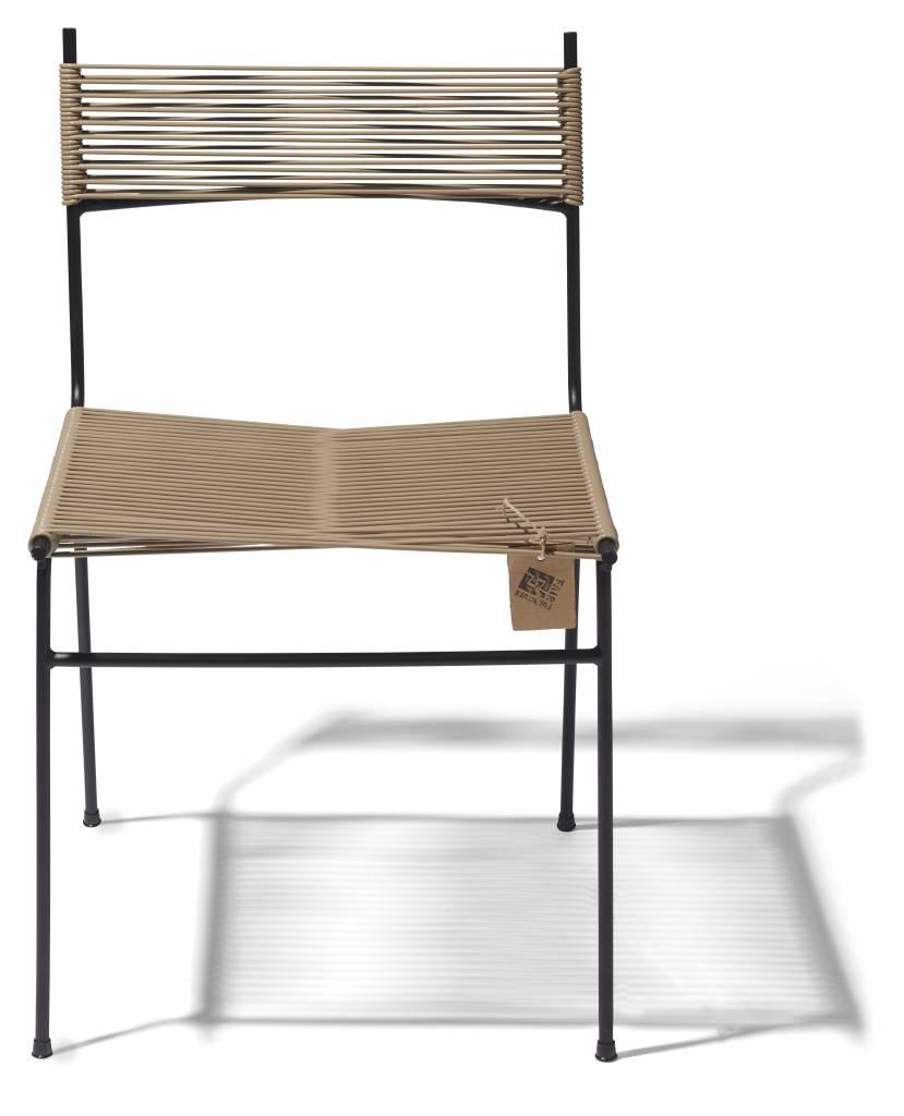 Chaise de cordon fait la main le fauteuil acapulco for Chaise salle a manger beige