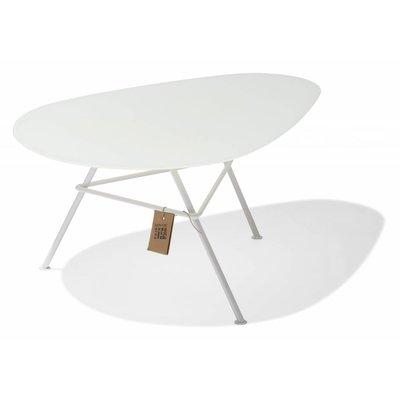 Tisch Zahora Glas - weiß - mit weißem Rahmen