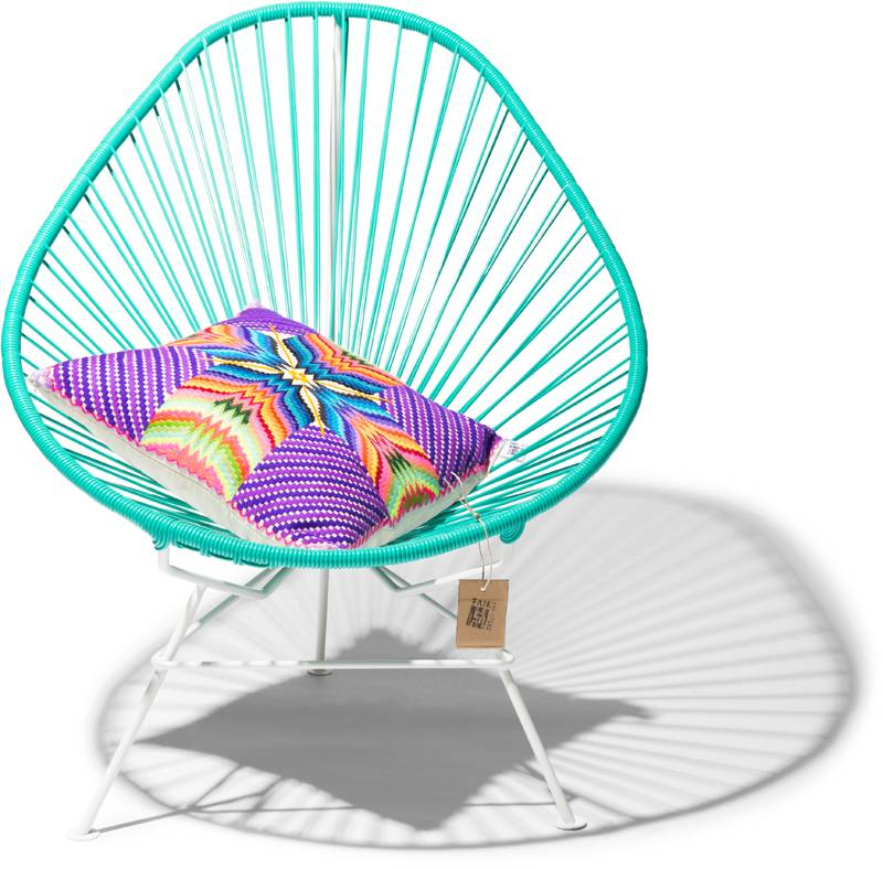 Sedia acapulco turchese struttura bianca sedie for Sedia acapulco