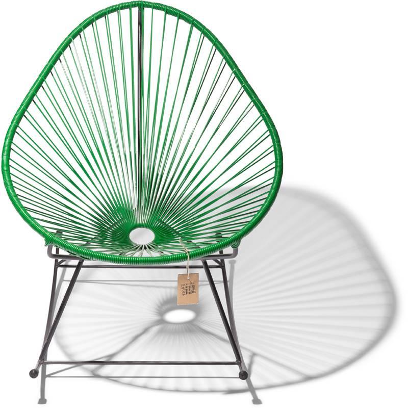 Sedia a dondolo acapulco verde scuro sedie originali for Sedia acapulco