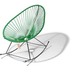 Chaise à bascule vert foncé