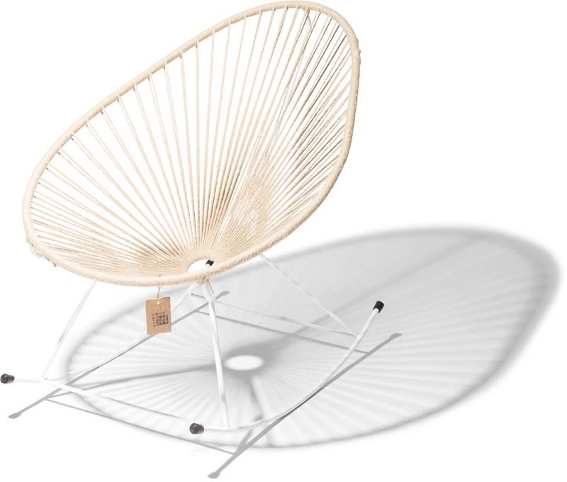 acapulco rocking chair white frame hemp the original acapulco chair. Black Bedroom Furniture Sets. Home Design Ideas