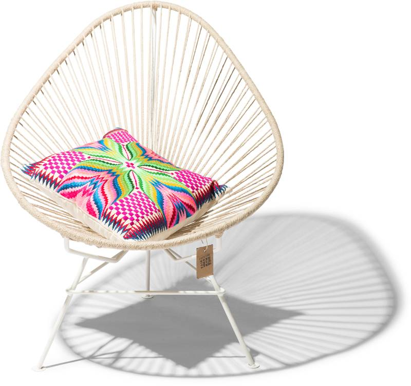 acapulco hemp chair white frame the original acapulco chair. Black Bedroom Furniture Sets. Home Design Ideas