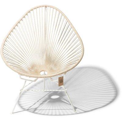 Acapulco Hemp chair 100% natural, white frame