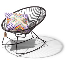 Black rocking chair Condesa