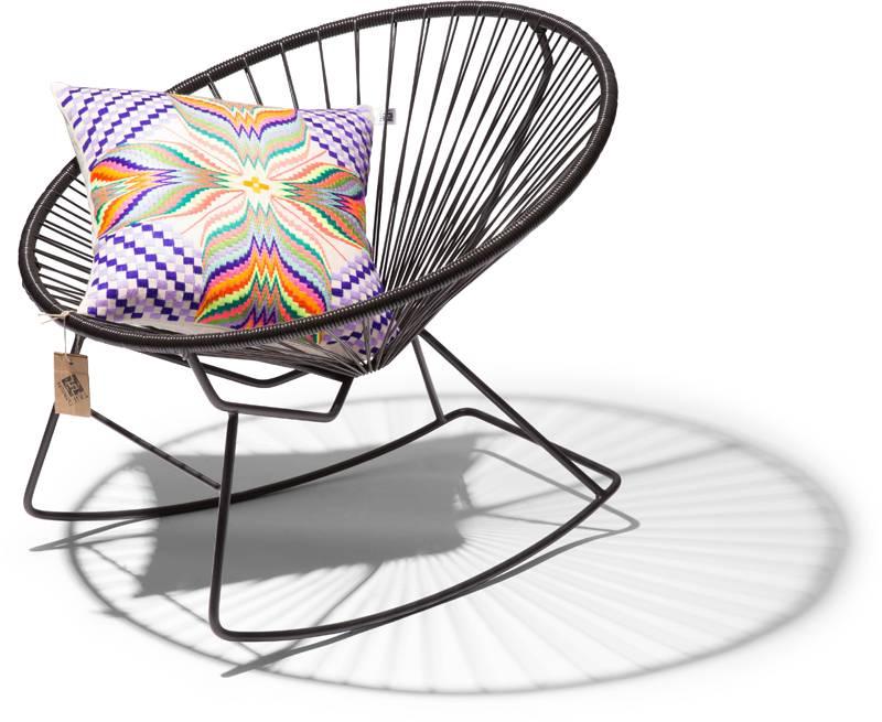 fauteuil bascule condesa noir le fauteuil acapulco authentique. Black Bedroom Furniture Sets. Home Design Ideas