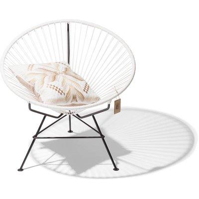 Condesa chair white, handmade, black frame