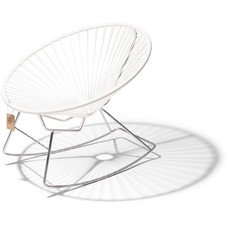 Condesa rocking chair white, chrome frame