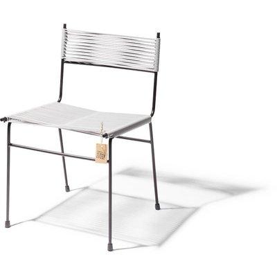 Sedia da pranzo polanco grigio chiaro sedie originali for Sedia acapulco
