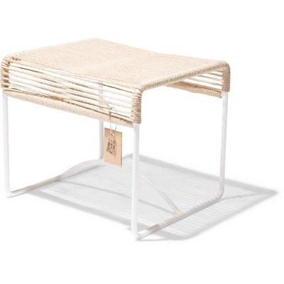 Xalapa banc/pouf en chanvre, cadre blanc