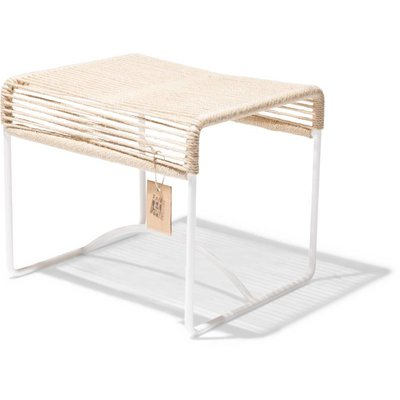 Xalapa bench or footrest hemp, white frame