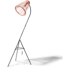 Kahlo floor lamp salmon pink